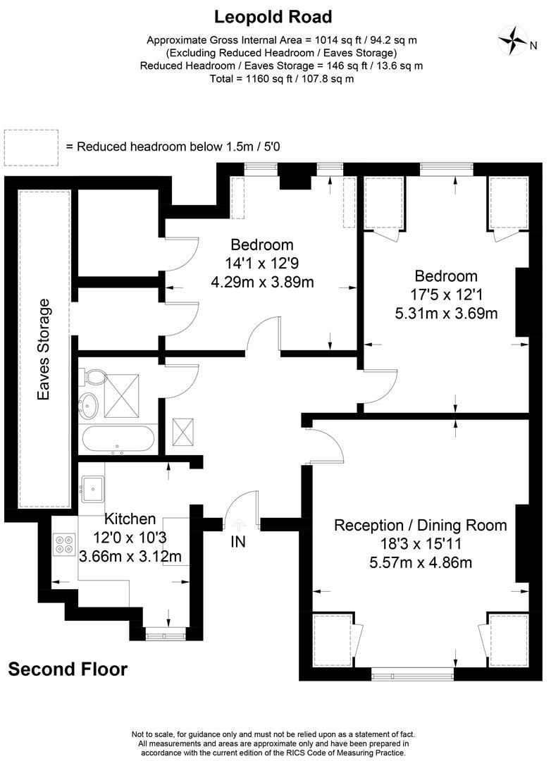 Floorplan for Leopold Road, Wimbledon, London